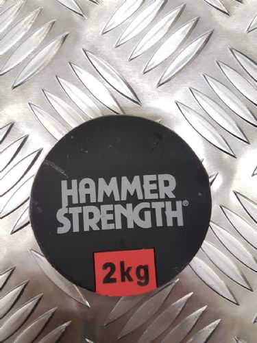 Hammer Strength Dumbell Weight Stickers, Numbers 2kg to 50kg